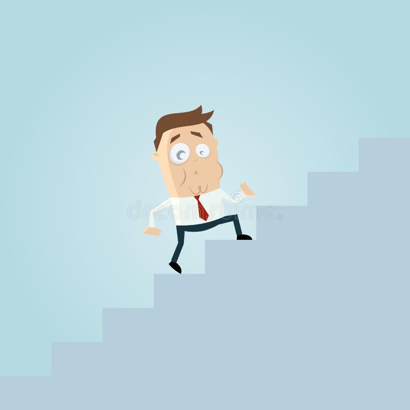 Download Climbing stairs stock illustration. Illustration of amusing - 32004961