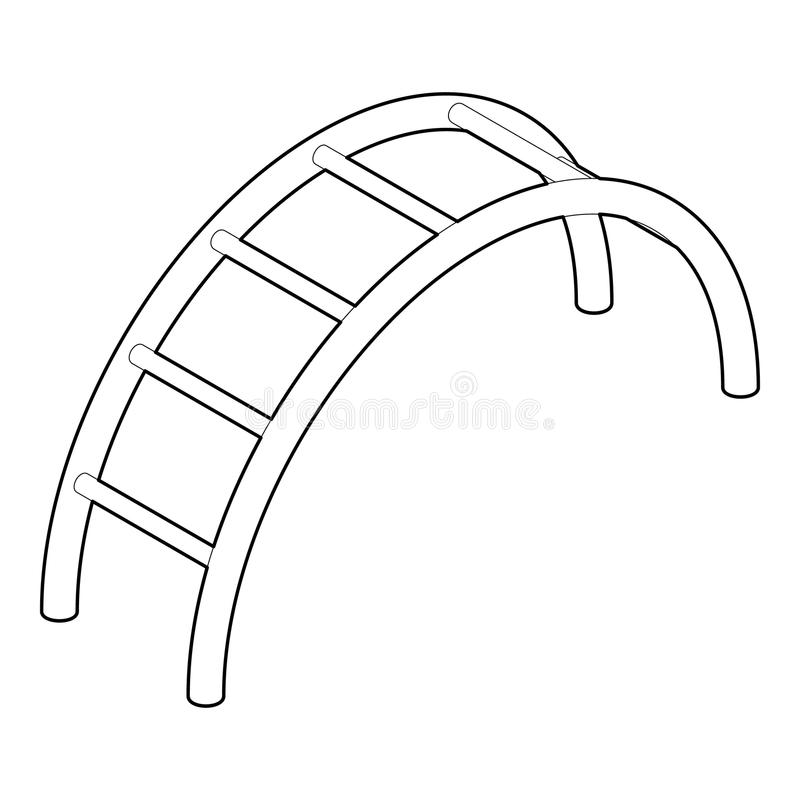 Climbing stairs icon, outline style royalty free illustration
