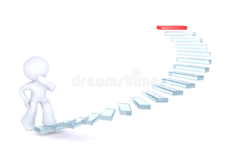 Download Climbing The Stairs Of Success Stock Illustration - Illustration of career, choose: 12777468