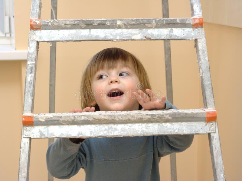 Climbing step-ladder stock photo