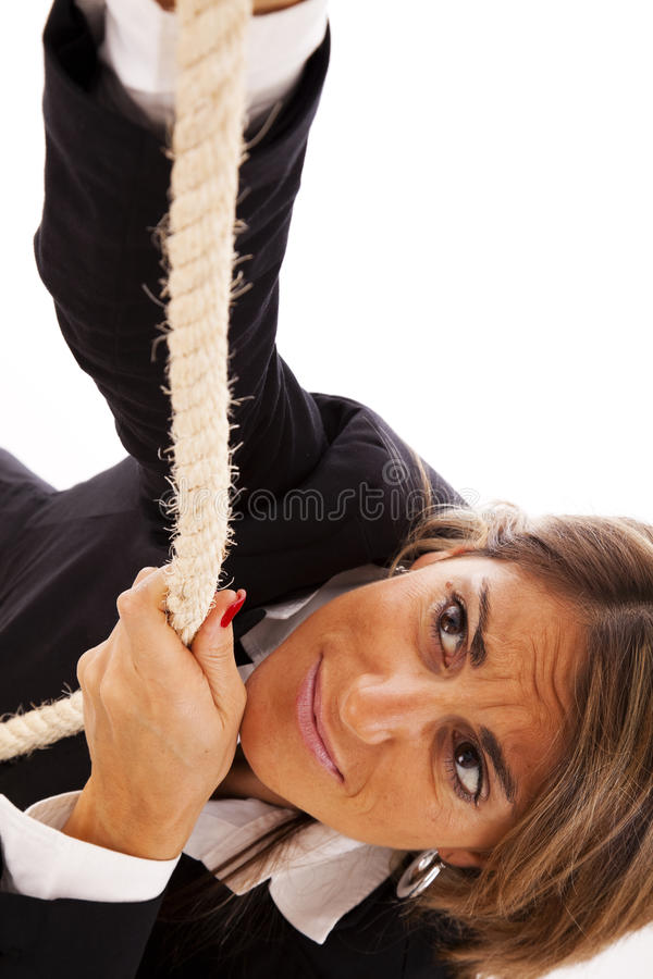 Climbing To Success Stock Image