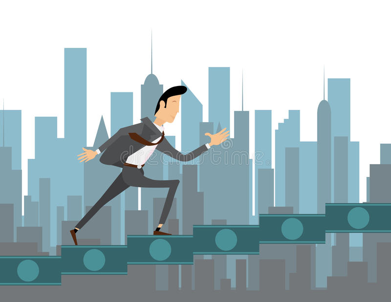 Climbing to success illustration stock illustration
