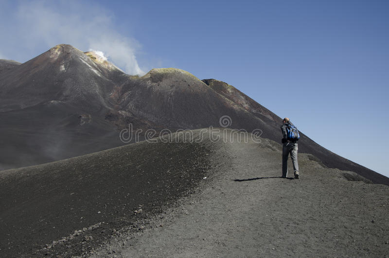 Download Climbing the volcano Etna editorial photography. Image of climbing - 27084142