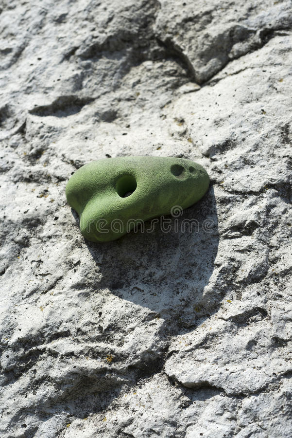 Climbing wall grip stock photography