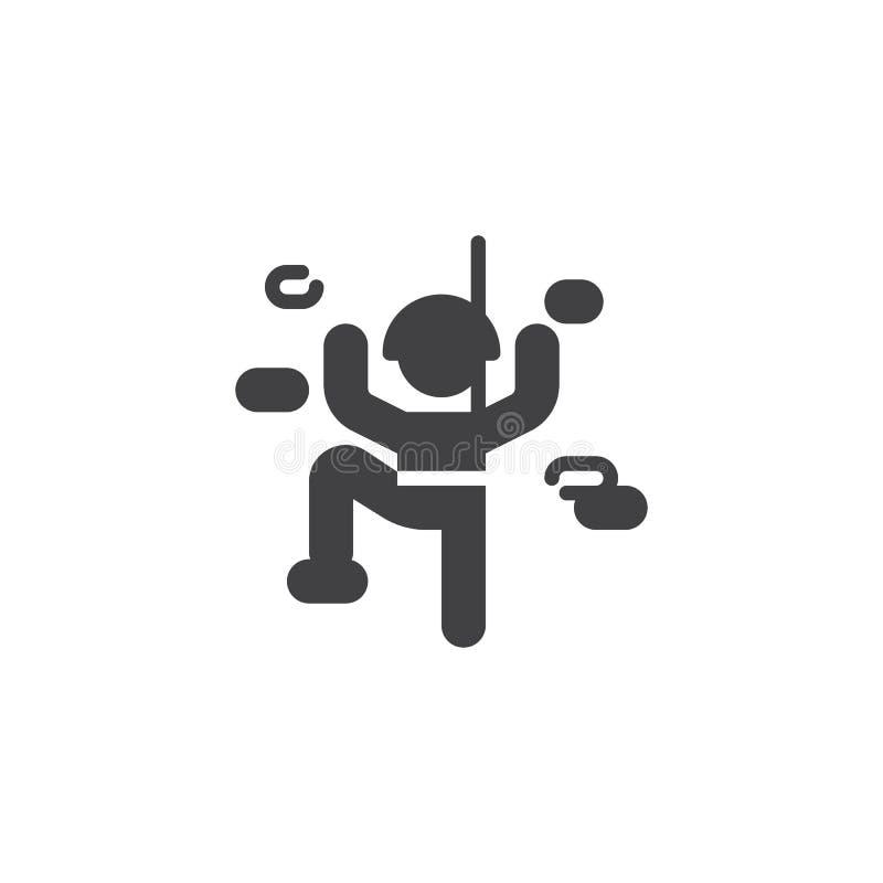 Climbing wall sport vector icon stock illustration