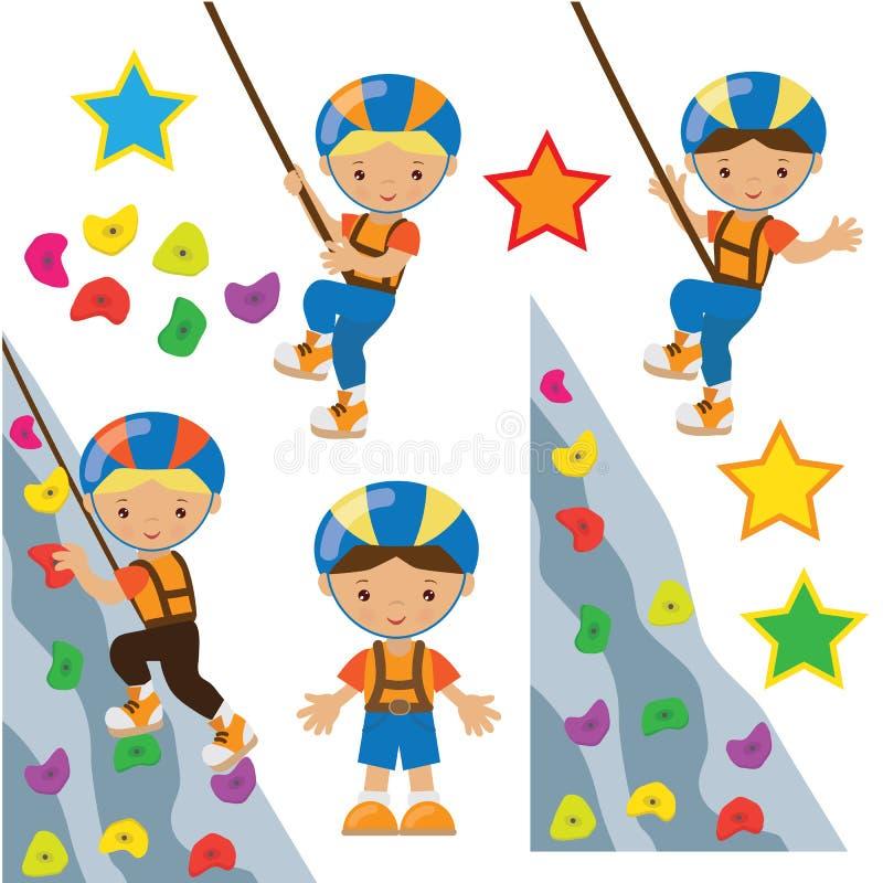 Climbing wall vector illustration stock illustration