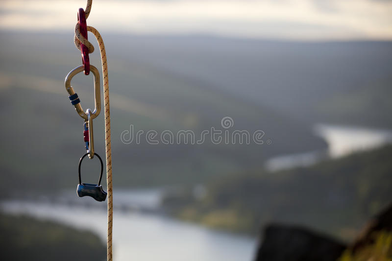 Climbning rope royalty free stock photography
