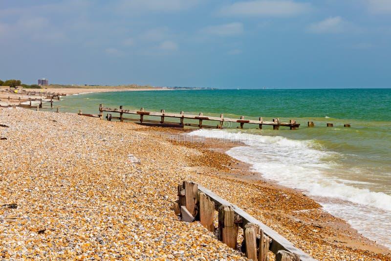 Climping strand västra Sussex England royaltyfria foton