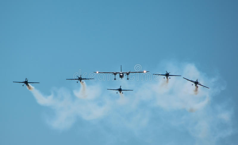 Clinceni Airshow fotografia de stock