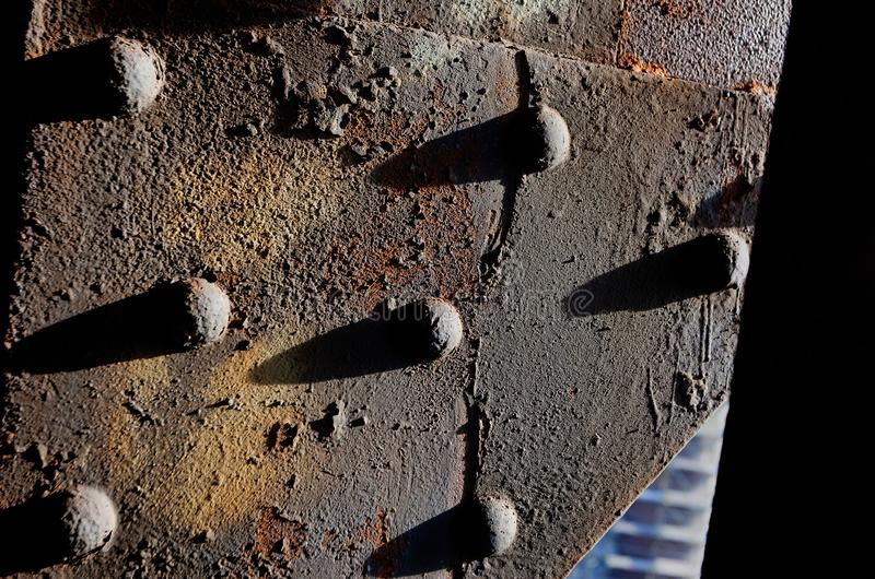 Clinch σκουριάς διαβρωμένος σίδηρος καρφιών στοκ εικόνες