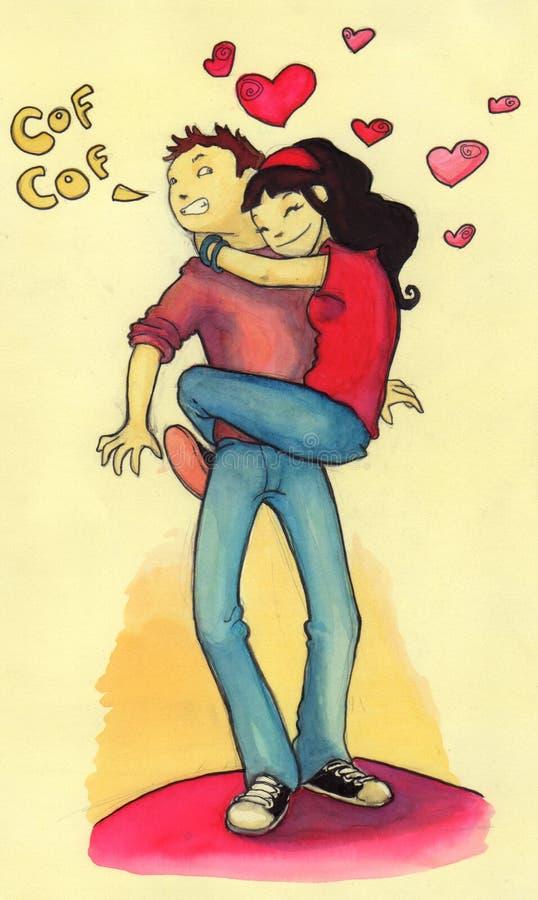 Clinging girl