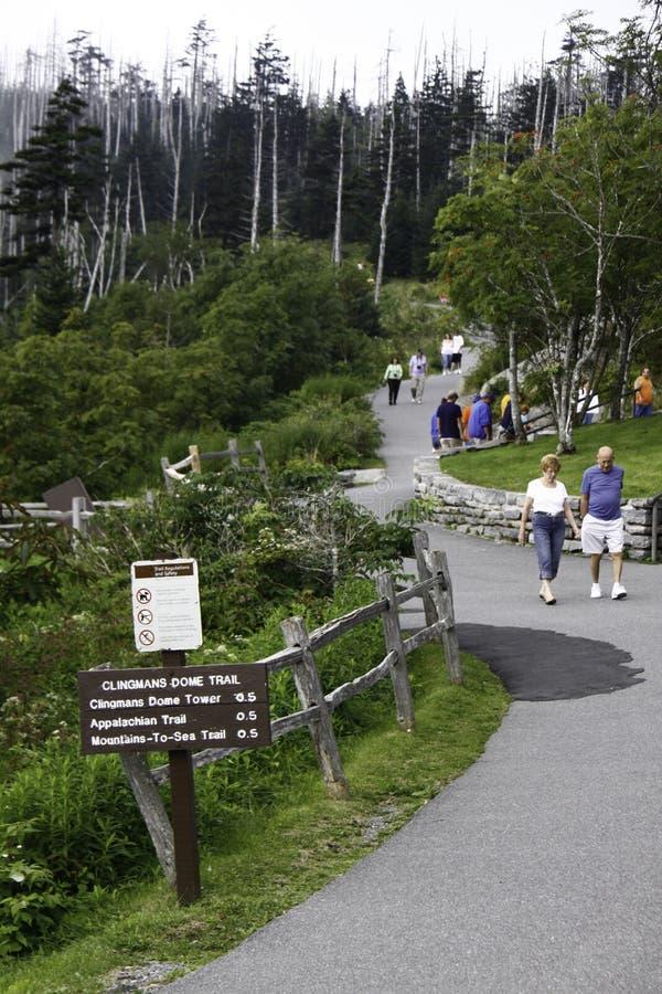 clingmans圆顶山国家公园发烟性线索 免版税库存图片