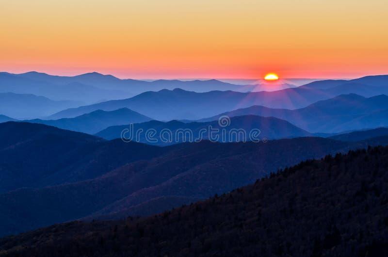 Clingmans kupol, Great Smoky Mountains, tennessee fotografering för bildbyråer