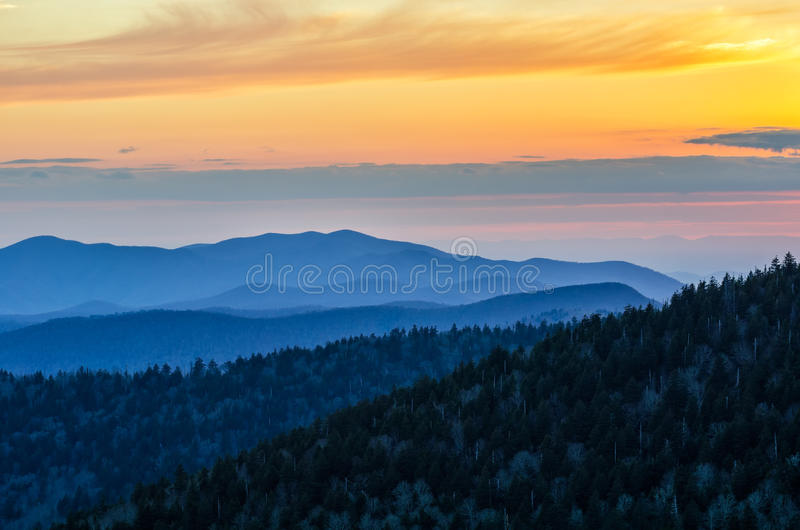 Clingmanskoepel, Great Smoky Mountains, Tennessee stock afbeelding