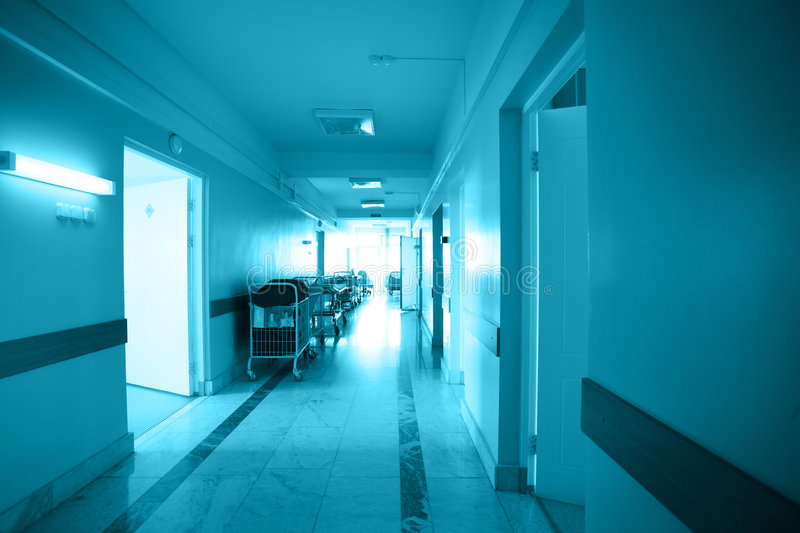 Clinic. Doctors are working - medicine background. Shot in a hospital royalty free stock photos