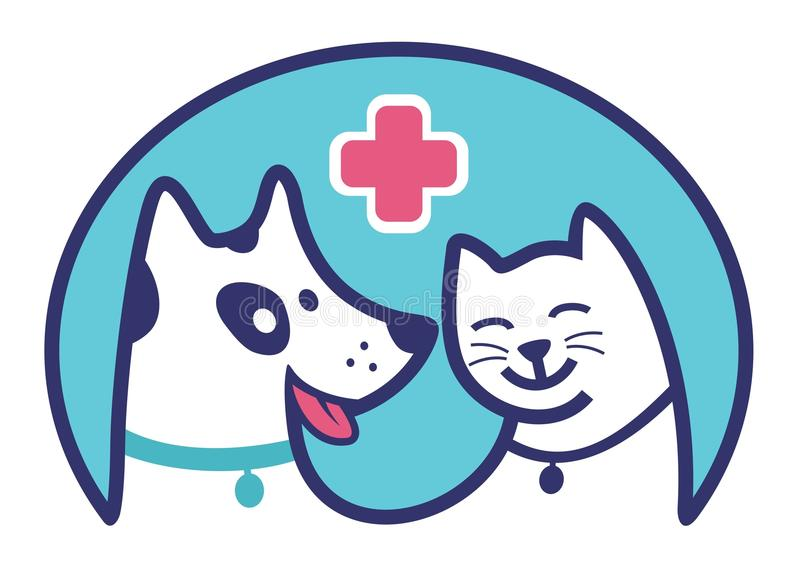Clinic Pet blue icon royalty free stock photography