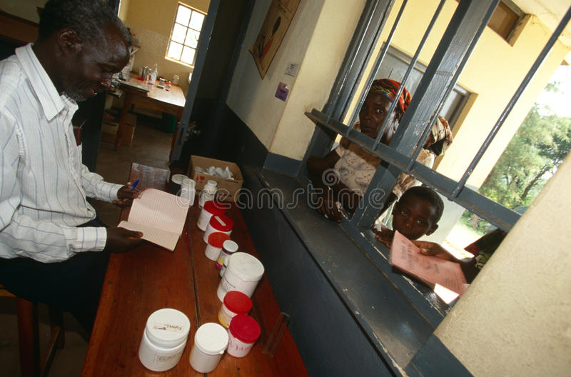 A clinic in Uganda royalty free stock images