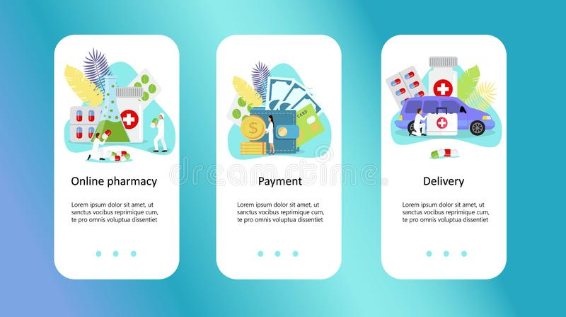 Clinical center, online pharmacy. Clinical centertiny, online pharmacy with people character concept vector illustration, it can be used for landing page vector illustration