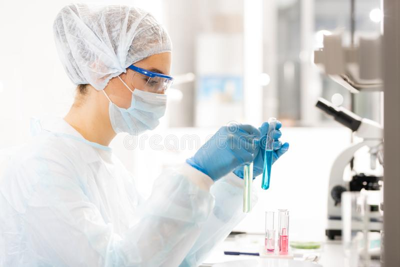 Clinical laboratory research stock photos