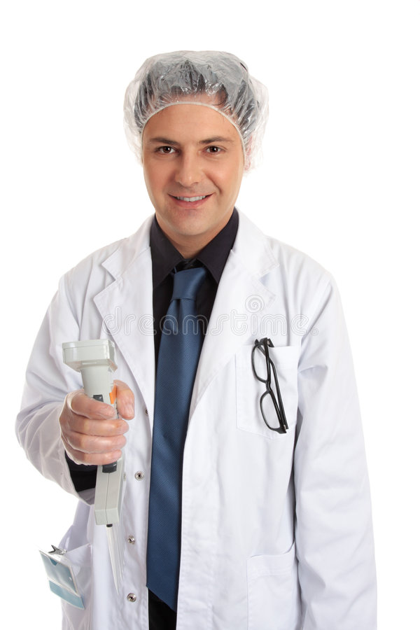 Download Clinical Researcher With Multi Pipettor Stock Photos - Image: 4405483