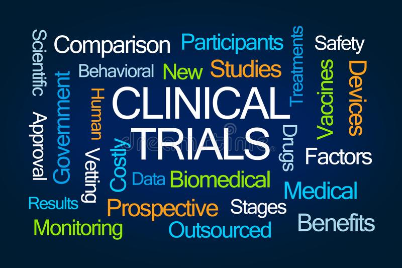 Clinical Trials Word Cloud vector illustration