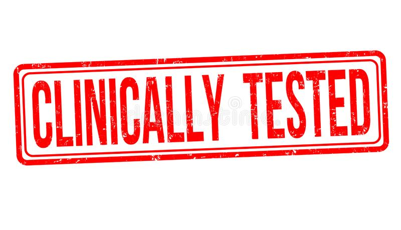 Clinically tested sign or stamp royalty free illustration