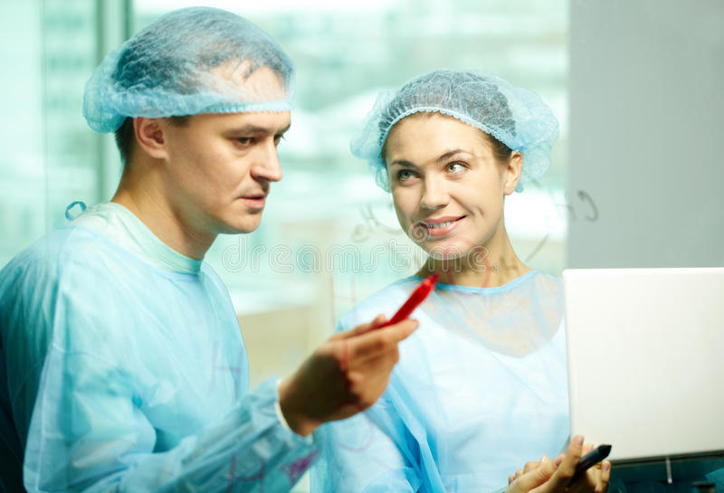 Download Clinicians interacting stock image. Image of clinic, interacting - 25443047