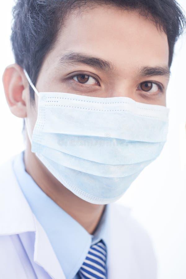 Clinicien dans le masque photo libre de droits