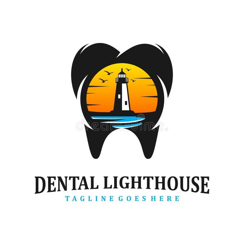 Clinique dentaire de phare illustration stock