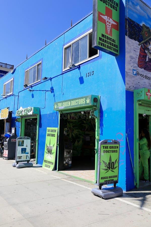 Clinique médicale d'évaluation de marijuana, Venise, la Californie image stock