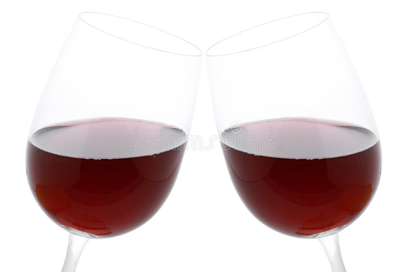 Download Clink Glasses With Red Wine Stock Image - Image: 28988481