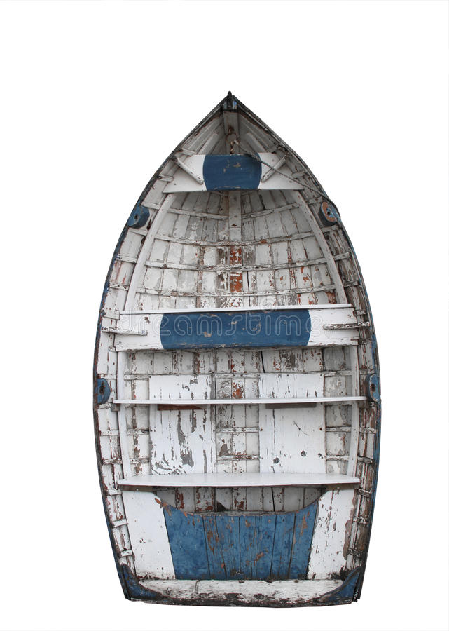 Clinker boat. Old Clinker boat isolated with cutting-path stock images