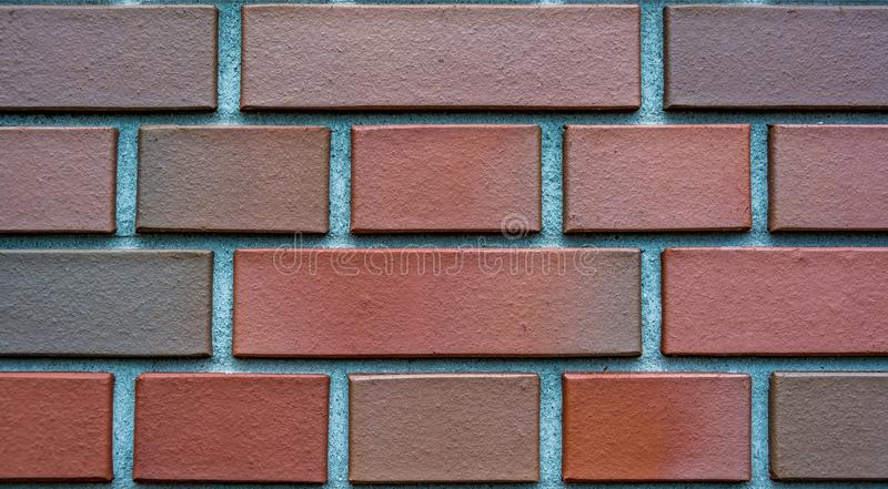 Clinker bricks background, wallpaper, texture. To be used for presentation of products or in architecture designs stock images