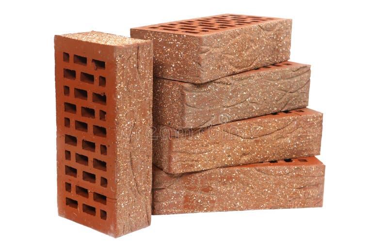 Clinker bricks isolated on white background royalty free stock image