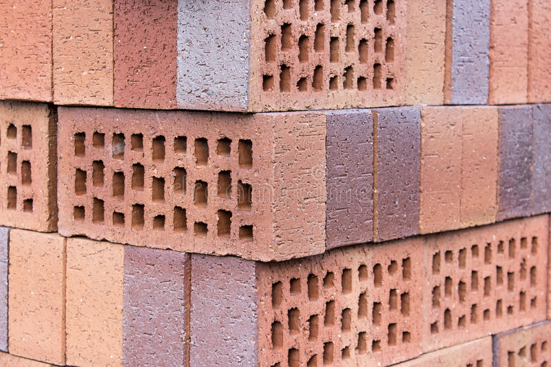 Clinker bricks. A Stack with clinker bricks royalty free stock images