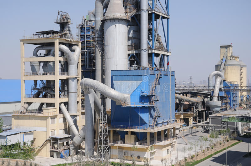 Clinker producing system. A clinker producing system in a cement factory royalty free stock images