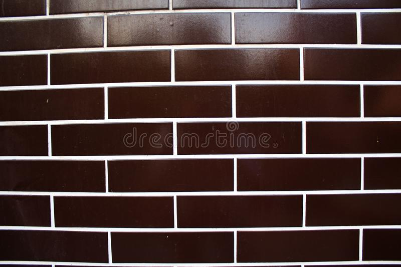 Clinker tiles. A close-up photo of Clinker tiles stock image