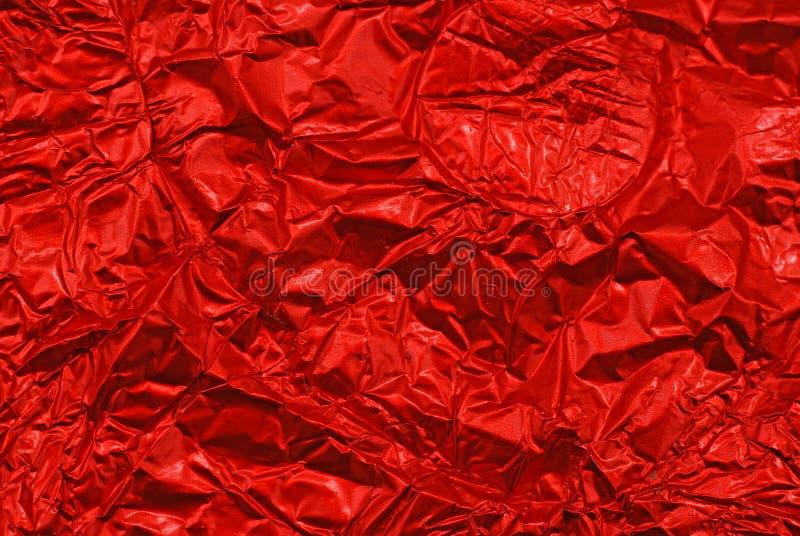Clinquant rumpled rouge image libre de droits