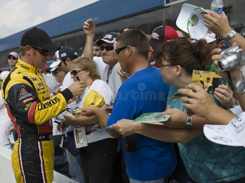 Clint Bowyer signs autographs stock images