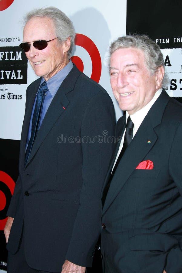 Clint Eastwood,托尼Bennett 免版税库存照片