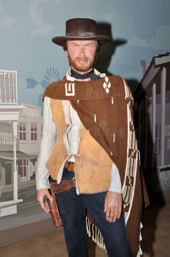 Clint Eastwood. Wax statue of Clint Eastwood, Hollywood celebrity and actor, image taken at the Madame Tussauds museum at Hollywood, Los Angeles, California stock photo