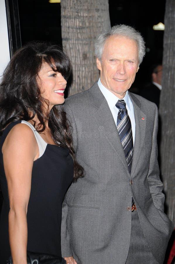 Clint Eastwood, Dina Eastwood photo libre de droits