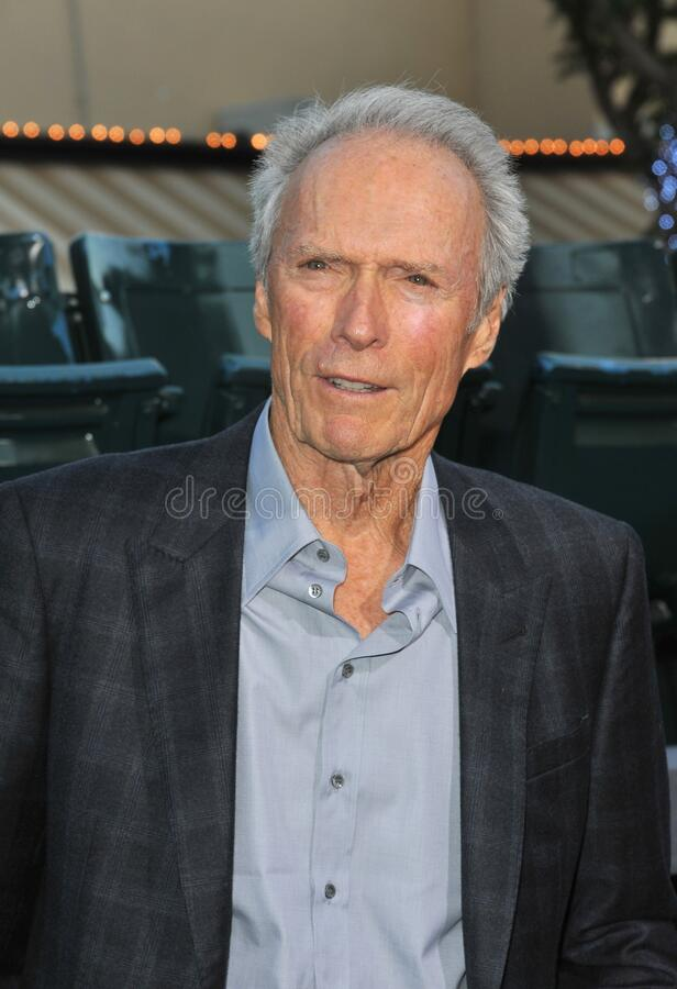 Clint Eastwood. LOS ANGELES, CA - September 19, 2012: Clint Eastwood at the premiere of his movie \'Trouble With The Curve\' at the Mann Village Theatre royalty free stock images