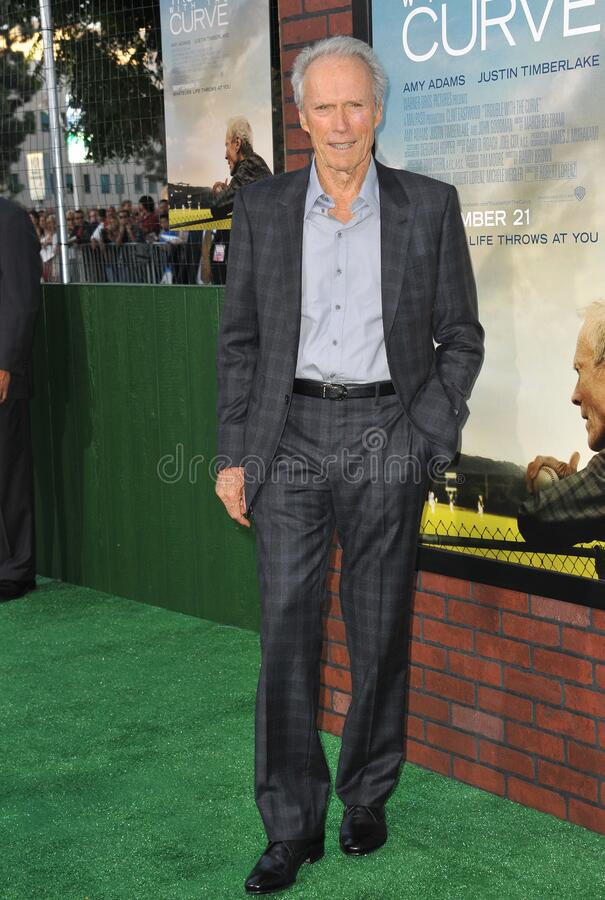 Clint Eastwood. LOS ANGELES, CA - September 19, 2012: Clint Eastwood at the premiere of his movie \'Trouble With The Curve\' at the Mann Village Theatre stock images