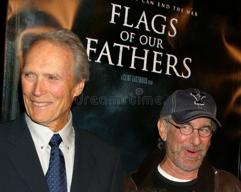 Clint Eastwood, Steven Spielberg fotografering för bildbyråer