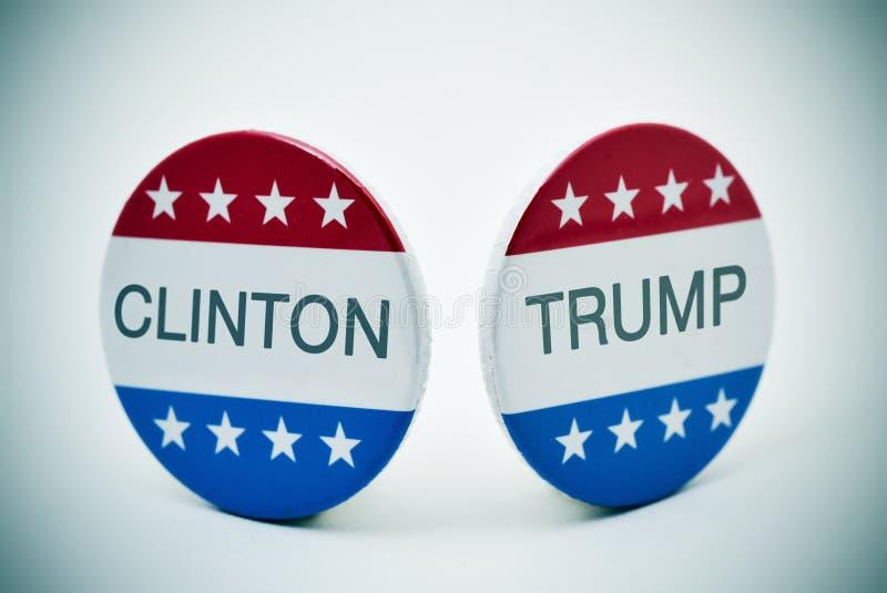 Clinton gegen Trumpf lizenzfreies stockbild