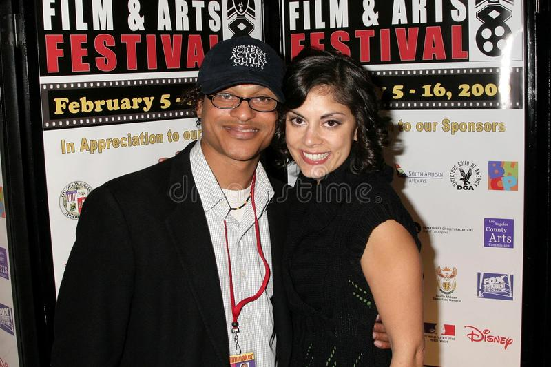 Clinton H. Wallace and Ursula Taherian at the Pan African Film Festival Premiere of 'Layla'. Culver Plaza Theatre, Culver City, CA. 02-13-09 royalty free stock image