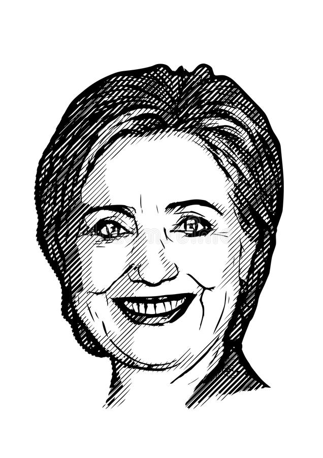 clinton hillary royaltyfri illustrationer