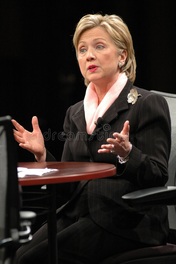 clinton hillary images stock