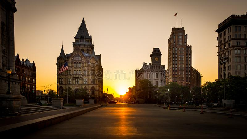 Clinton kwadrat Syracuse Nowy Jork fotografia stock